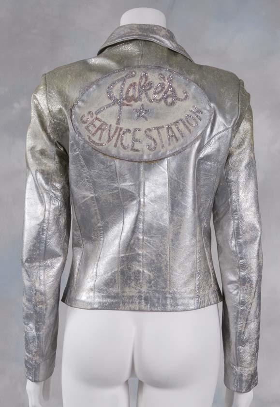 Stephanie Zinone's Jake's Service Station Silver Leather Jacket (Back Detail)